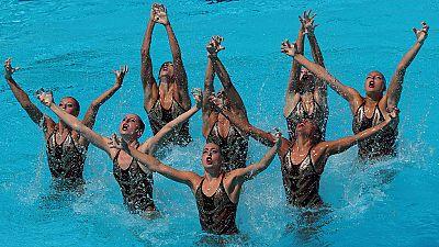 El equipo español de natación sincronizada ha quedado en sexto lugar, con una puntuación de 90.7000, en la final de Equipo Libre del Mundial de natación, que se está celebrando del 14 al 30 de julio en Budapest.