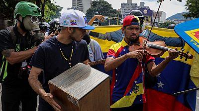 El violinista Willy Arteaga, entre los heridos en la manifestación de Caracas