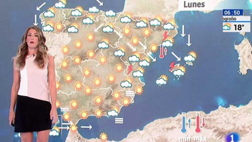 Luvias en el noreste del país y aumento de temperaturas en Andalucía