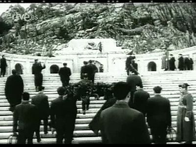 La primera retransmisión en directo: la inauguración del mauseleo del Valle de los Caídos