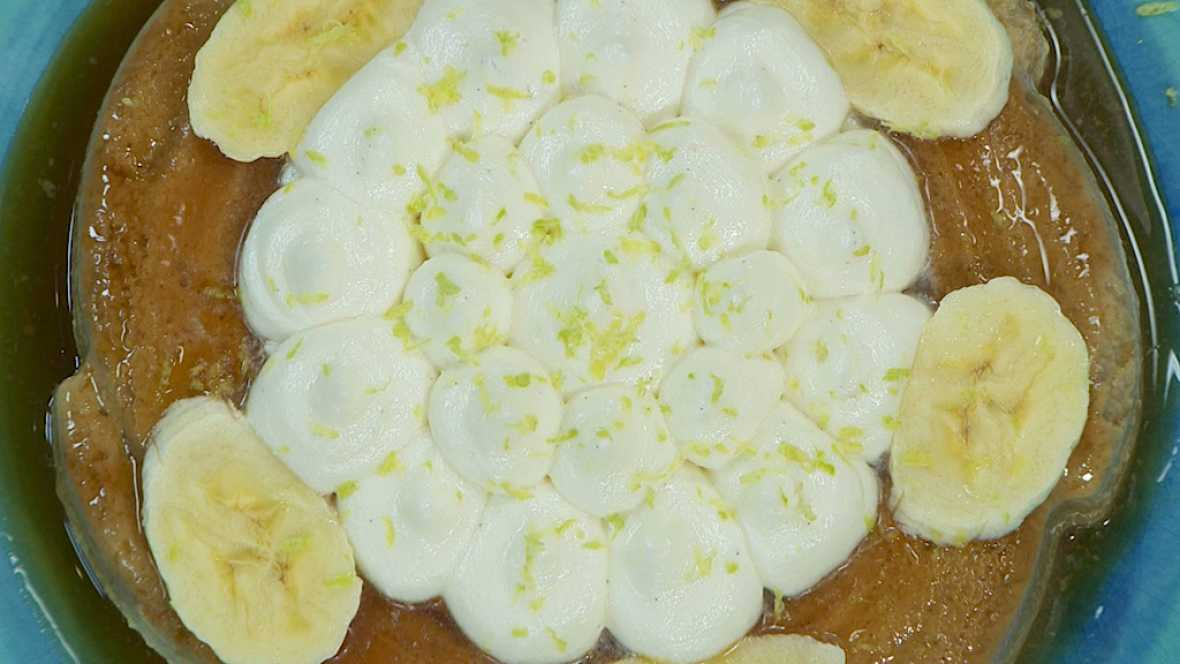 Torres en la cocina - Flan de plátano asado