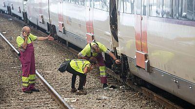 El maquinista del tren que chocó en la estación en Barcelona dice que no recuerda lo sucedido