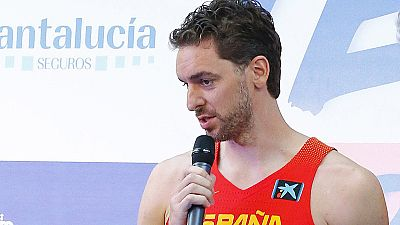 """El jugador de la selección española Pau Gasol afronta con """"mucha ambición"""" y con la idea del oro en la cabeza el próximo Eurobasket, que podría ser su último torneo con España."""