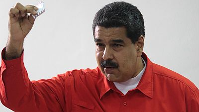 Nicolás Maduro vota para elegir a la Asamblea Nacional Constituyente