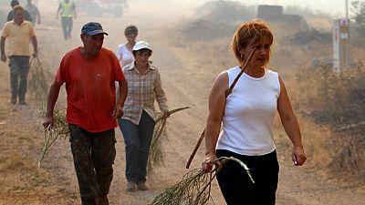 Desalojan siete pedanías y aldeas por el incendio de Yeste, en Albacete