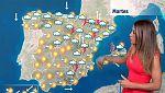 Ligero descenso de temperaturas en el interior peninsular y cielo más nuboso en el este