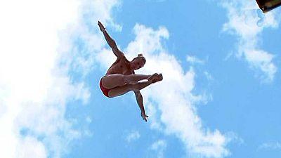 Natación Saltos - Campeonato del Mundo Masculino 'High Diving 27MTS' 3ª y 4ª Ronda - ver ahora