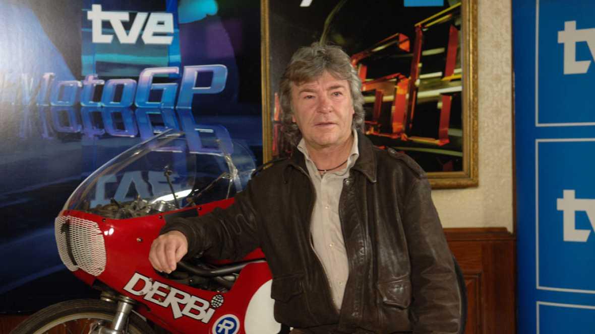 Ángel Nieto en TVE, de la moto a los micrófonos