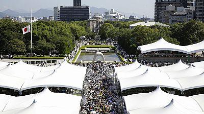 La ciudad de Hiroshima ha celebrado un multitudinario homenaje a las más de 300.000 víctimas de la bomba atómica.