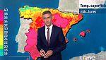 La AEMT, prevé para este lunes calor intenso en el interior y tormentas fuertes en Aragón y Cataluña