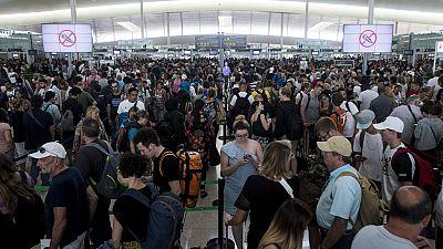 Termina la tercera jornada de paros en el aeropuerto del Prat sin acuerdo entre los trabajadores y Eulen