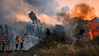 Portugal lucha contra ocho incendios simultáneos en el peor verano de fuego en una década