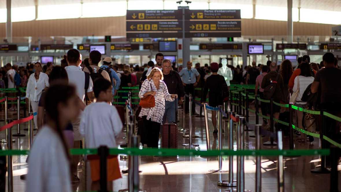 El aeropuerto de Barcelona vive una jornada tranquila