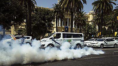 En Málaga tercera jornada de huelga indefinida en el sector del taxi