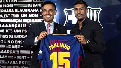 """El presidente del FC Barcelona , Josep Maria Bartomeu, ha asegurado que la llegada de Paulinho es """"petición"""" de la secretaría técnica y del nuevo entrenador, Ernesto Valverde."""