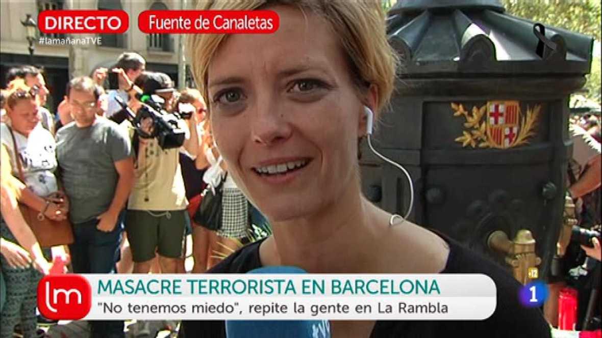 Los barceloneses salen a la calle emocionados