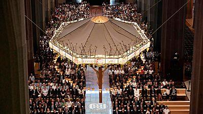 Homenaje a las víctimas del doble atentado en Cataluña en la Basílica de la Sagrada Familia