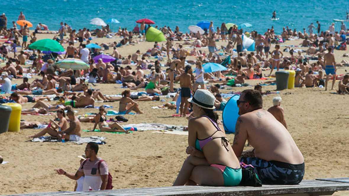 Altas temperaturas en áreas del interior de la Península y Canarias