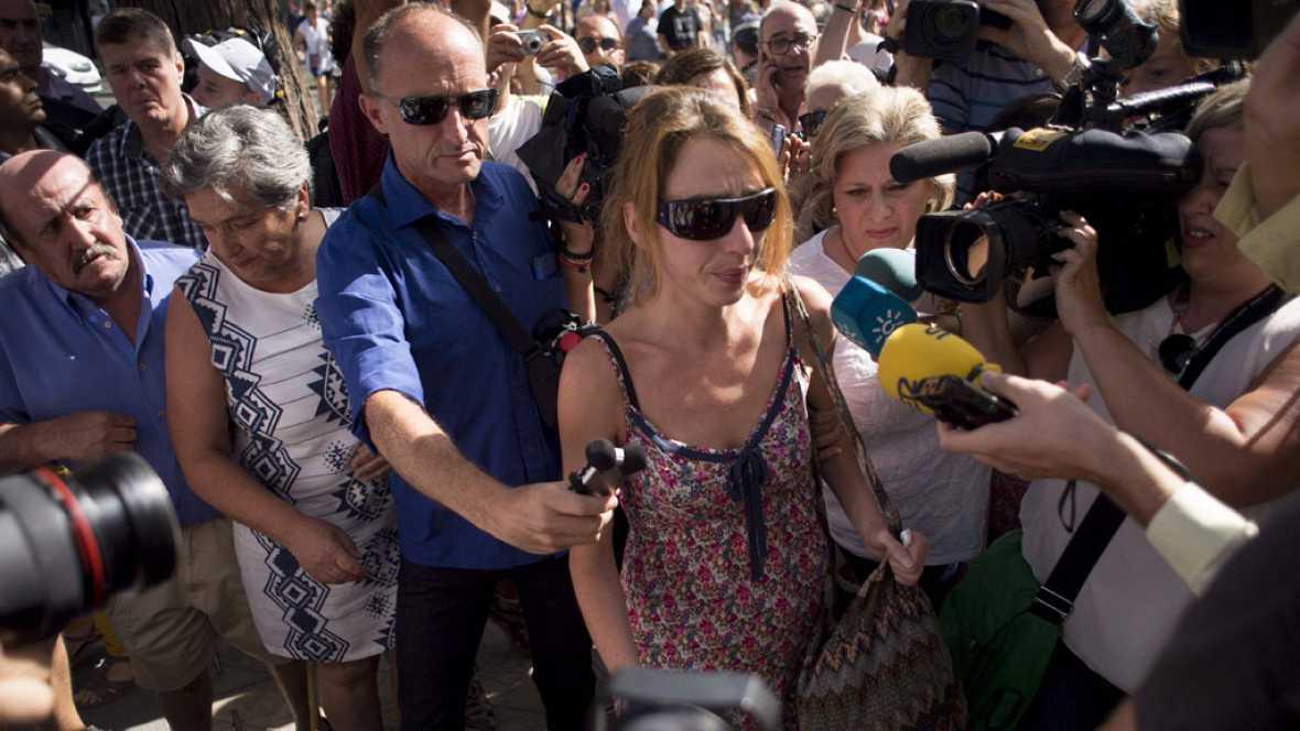 Juana Rivas detenida a su llegada al Juzgado de Granada