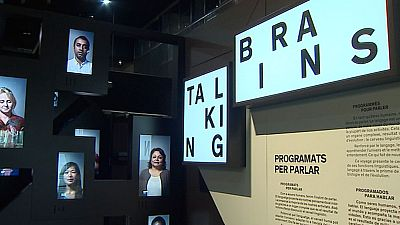 Talking Brains, cerebro y lenguaje, exposición interactiva de Cosmocaixa, Barcelona
