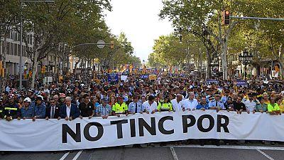 Miles de personas rechazan en Barcelona el terror yihadista al grito de 'No tengo miedo'