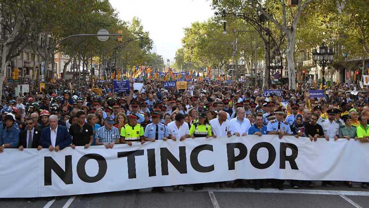 Especial informativo - Manifestación contra el terrorismo desde Barcelona - ver ahora