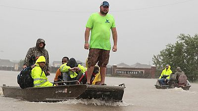 Trump visita Texas para comprobar los daños de la tormenta tropical Harvey