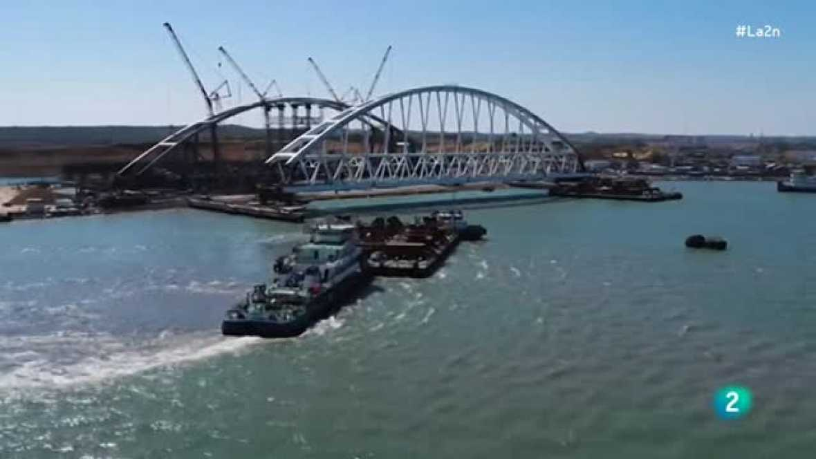 La 2 Noticias - La construcción del puente de Crimea