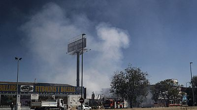 Un incendio en Fuenlabrada provoca una nube tóxica en Humanes, Moraleja de Enmedio y Griñón