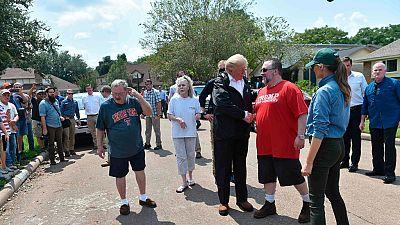 Donald Trump ha viajado a Texas para valorar los daños causados por el Huracán