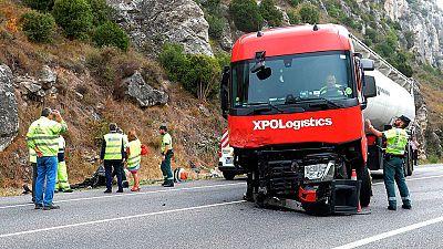 Cinco personas de la misma familia fallecen en un accidente de tráfico en Pancorbo, Burgos