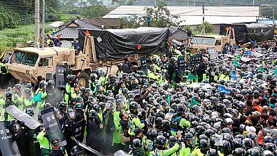 Protestas en Corea del Sur por la instalación de un escudo antimisiles contra la amenaza norcoreana
