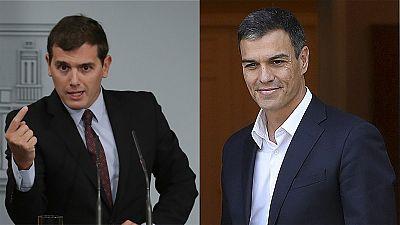 Sánchez y Rivera apoyan sin fisuras a Rajoy en la defensa de la ley en Cataluña