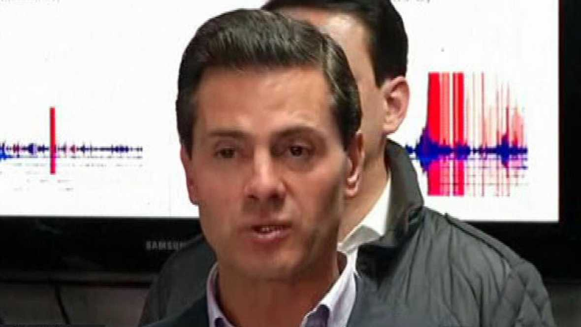 """Enrique Peña Nieto: """"Es el terremoto más grande en 100 años"""""""