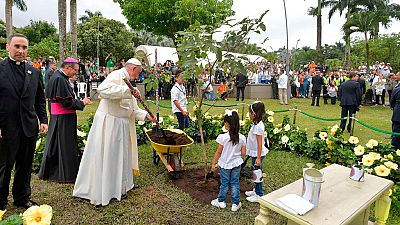 El papa Francisco preside en Villavicencio un acto para la reconciliación en Colombia
