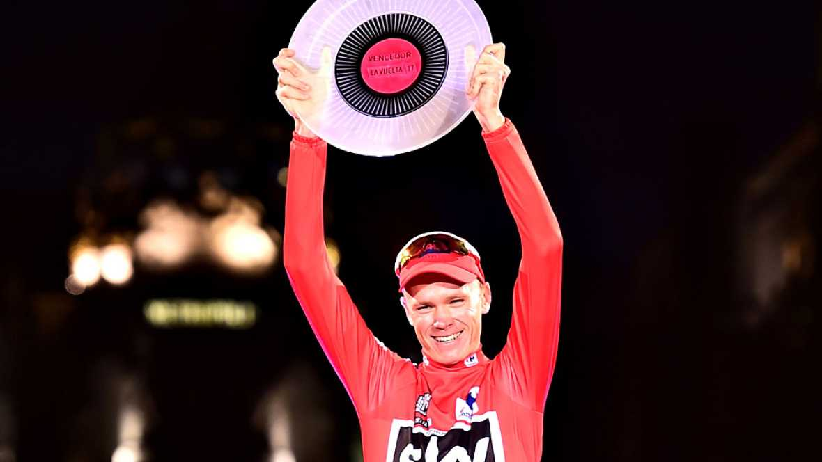 El británico Chris Froome (Sky) se ha proclamado vencedor de la 72 edición de la Vuelta a España tras la disputa de la vigésima primera y última etapa, entre Arroyomolinos y Madrid, de 117,6 kilómetros, en la que el italiano Matteo Trentin (Quick Ste