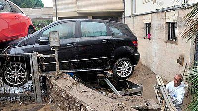 El temporal en Italia deja dos desaparecidos y graves daños en Liguria y Toscana