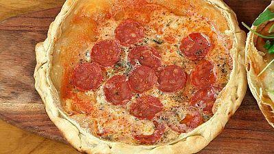 Torres en la cocina - Pizza suflada