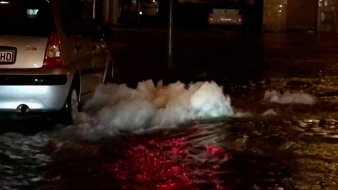 Una tormenta descarga más de setenta litros por metro cuadrado en la capital mallorquina