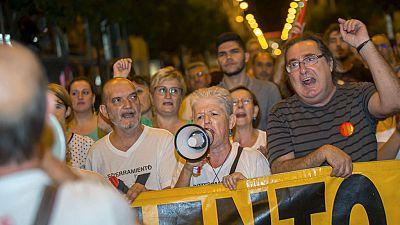 Miles de vecinos de un barrio de Murcia exigen el soterramiento del AVE a su paso por la ciudad