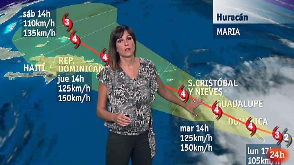 El pronóstico de evolución del huracán María en el Caribe