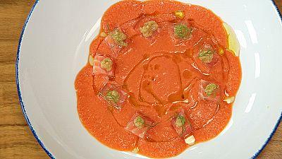 Torres en la cocina - Sopa de verduras con salmón