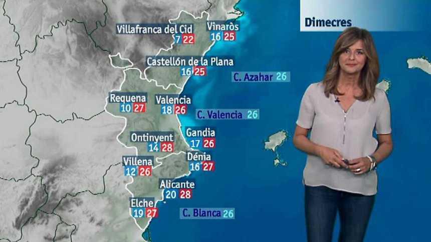 El tiempo en la Comunidad Valenciana - 19/09/17
