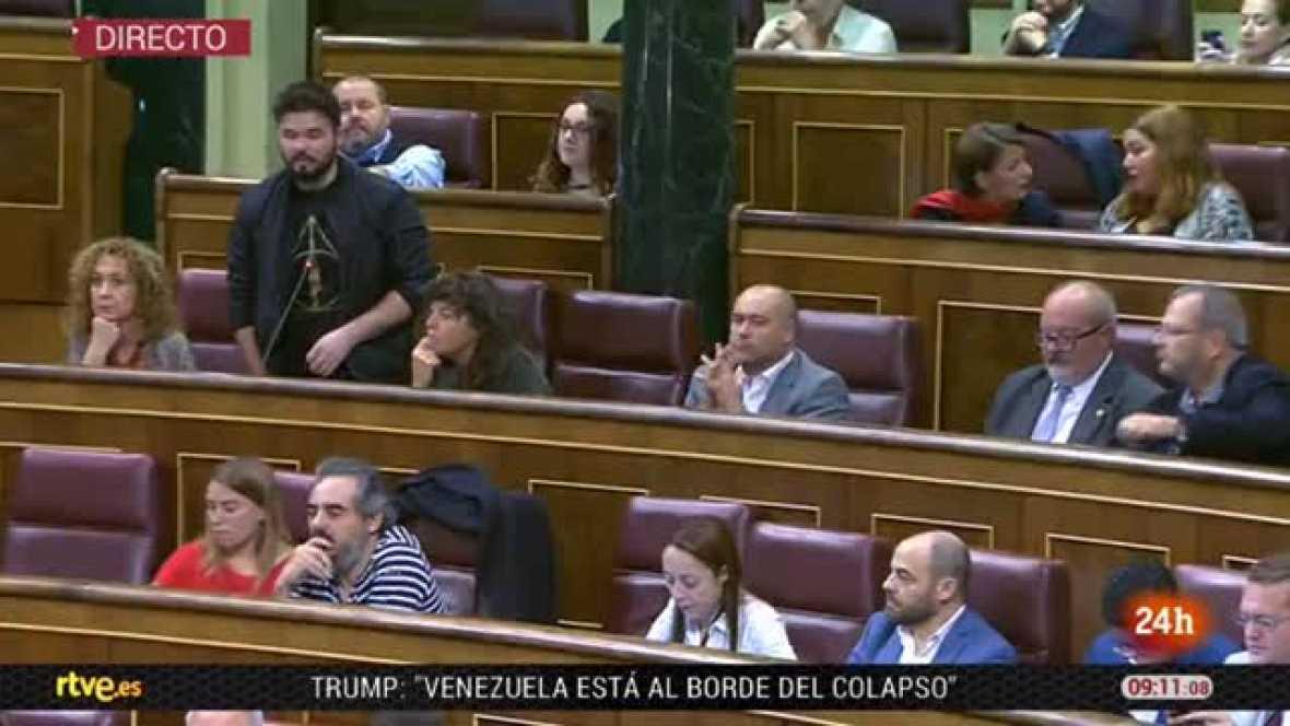 ERC abandona el Congreso tras un duro enfrentamiento entre Rufián y Rajoy