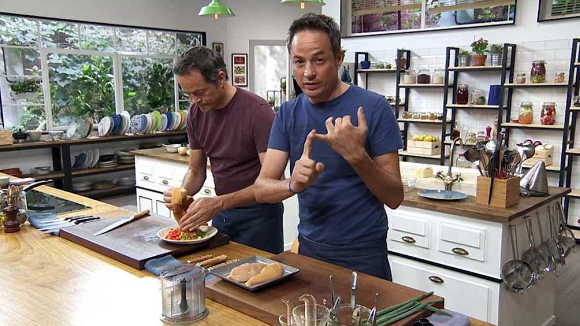 Torres en la cocina - Crema de verduras y pastel de pollo y patata - ver ahora