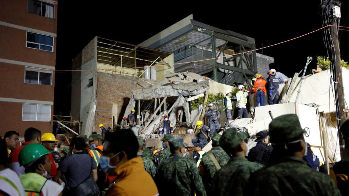 Así sufrió el terremoto una escuela en el sur de Ciudad de México