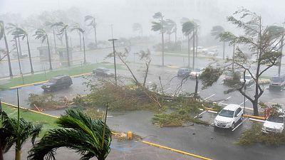 El huracán María impacta en la costa portorriqueña