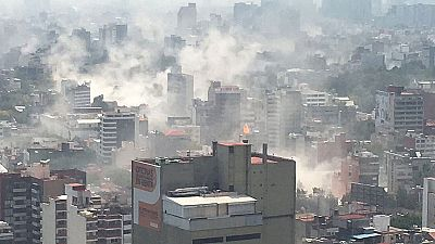 Las imágenes del terremoto de magnitud 7,1 que ha sacudido México