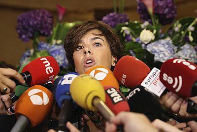 """Sáenz de Santamaría reduce el referéndum a un """"plan de contingencia"""""""