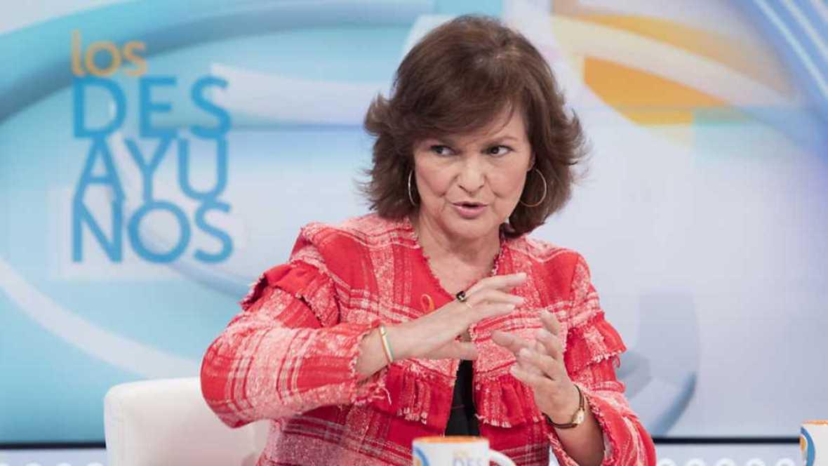 Los desayunos de TVE - Carmen Calvo, secretaria de Igualdad del PSOE - ver ahora
